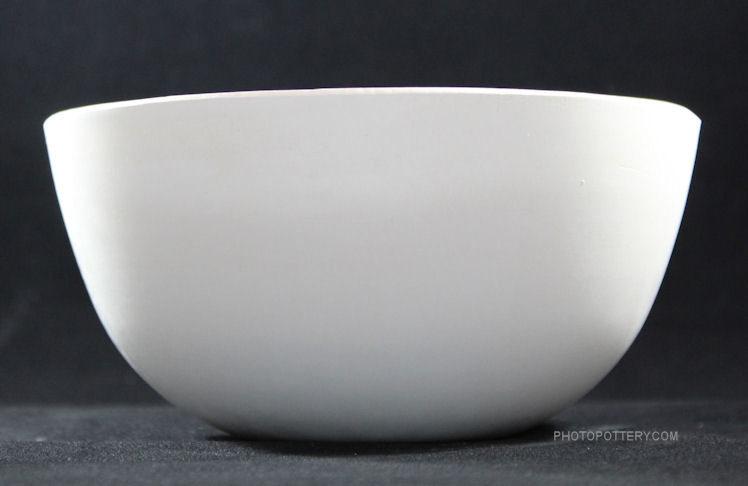 Plaster hump mold with classic bowl shape to make pottery serving bowls, soup and noodle bowls, collanders. Mold shown upright