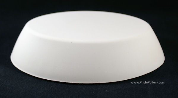 Small oval plaster drape mold to make ceramic ramekins