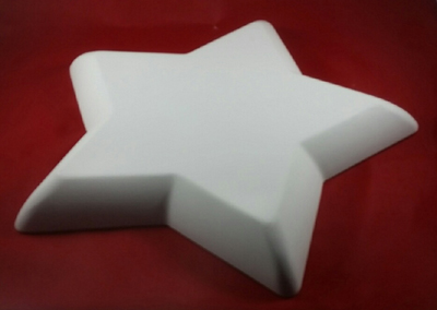 Star Shaped Hump Mold, Made of Plaster for Pottery Making