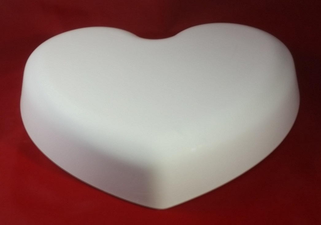 Heart Shaped Hump Mold, Made of Plaster for Making Clay Pots